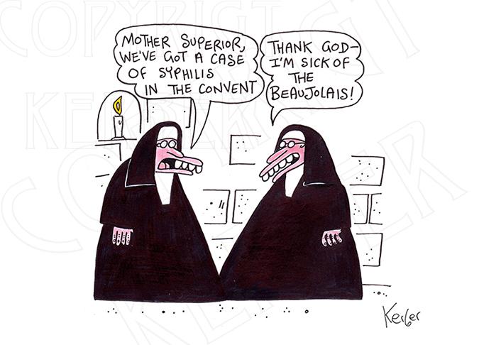 2 nuns cartoon
